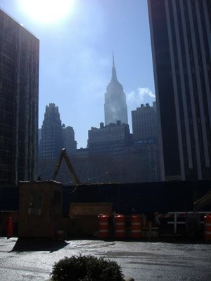 Empire State Building on a sunny day