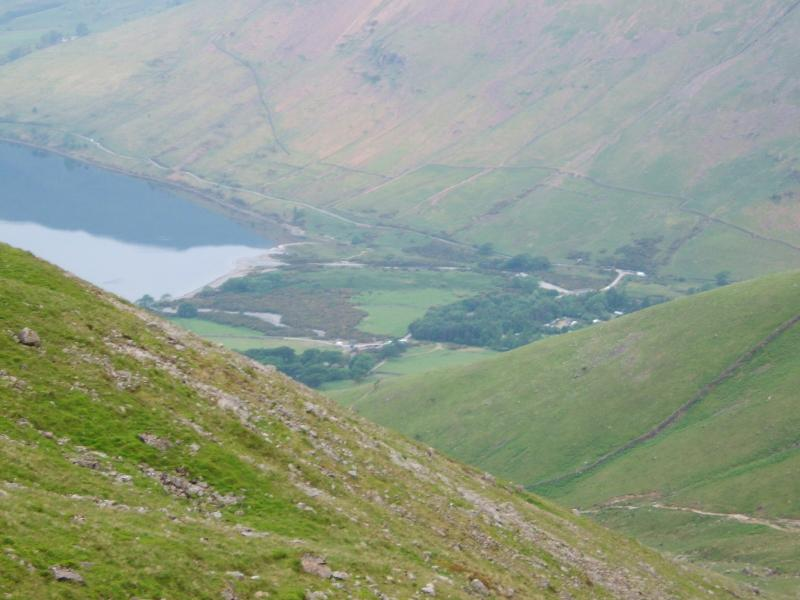 View of the path on the descent of Scarfell Pike to Wasdale