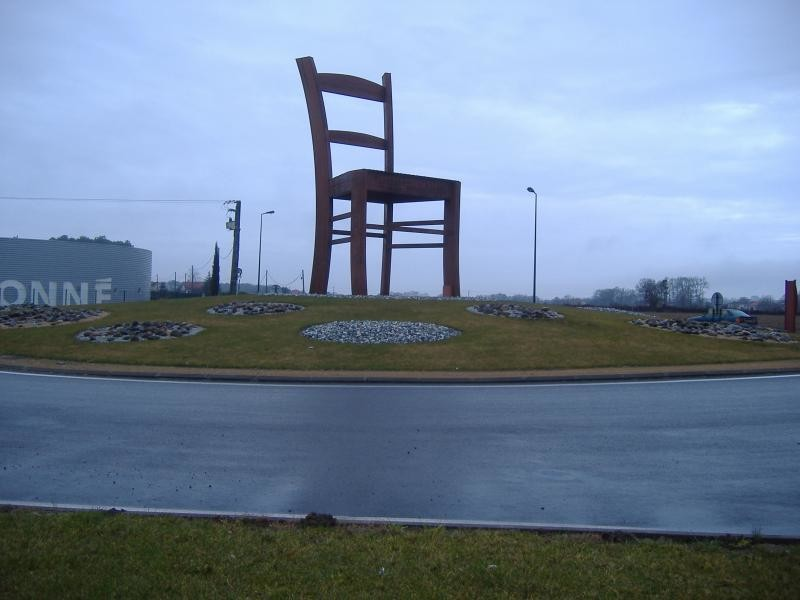 Giant chair on roundabout
