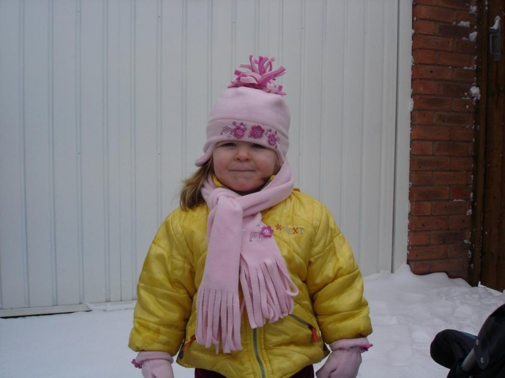 My 2 year old daughter Jessica in the snow