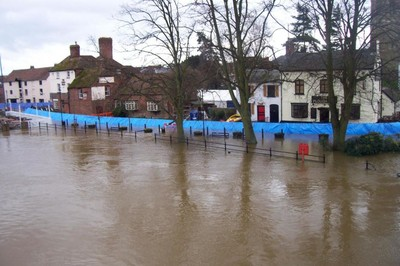 Upton on Severn Jan 13th 2007 last floods for comparison