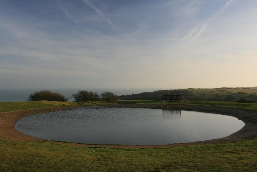 A dew pond at Beachy Head