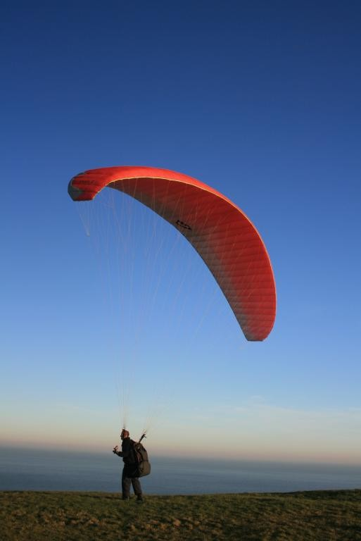 Parasending at Beachy Head