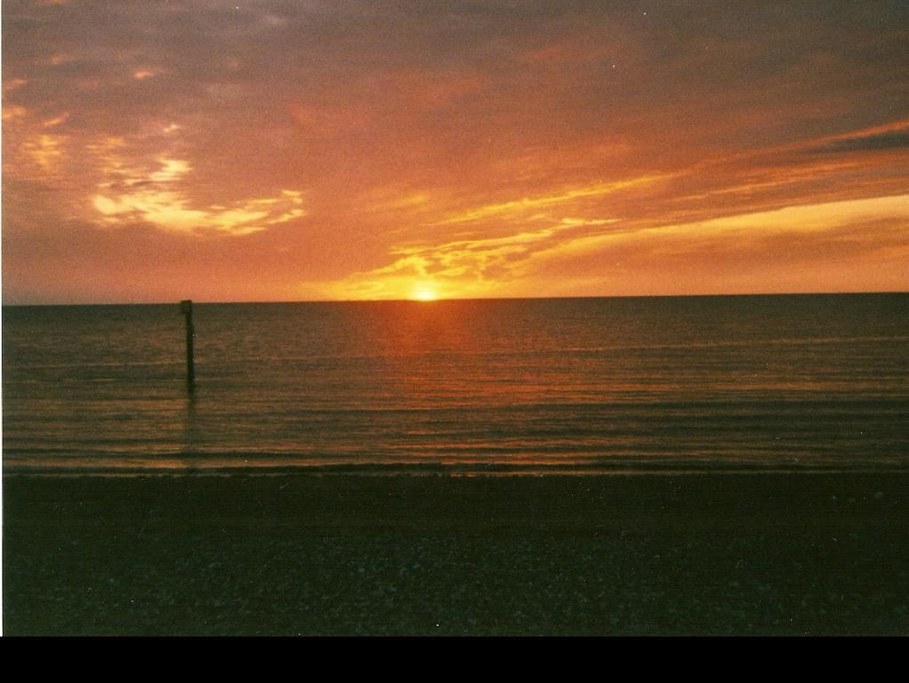 sunset in rhyl 2004