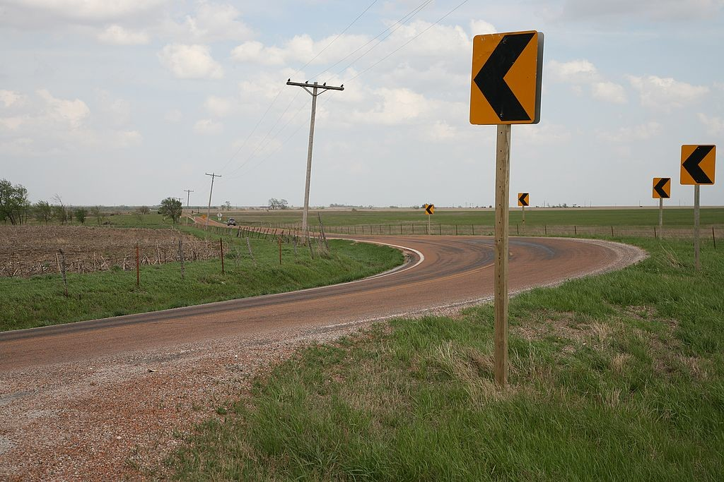 12. Mind the bends - they do have some twisty roads in Kansa
