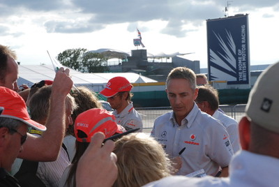 Jenson Button and Martin Whitmarsh
