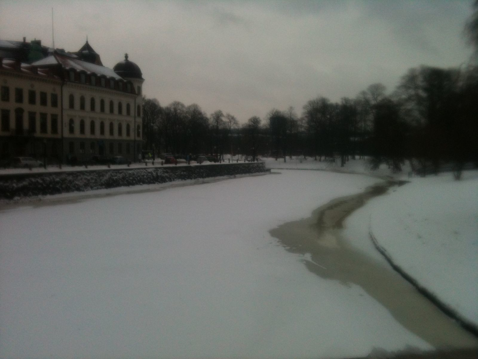Gothenburg river frozen