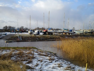 Winteringham Haven bleak and cold Marina