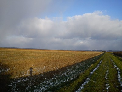 Snow showers incoming with Hull and the Humber Bridge on the horizon