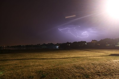 Lightning over Christchurch quay 5