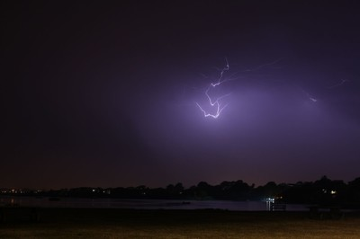 Lightning over Christchurch quay 4