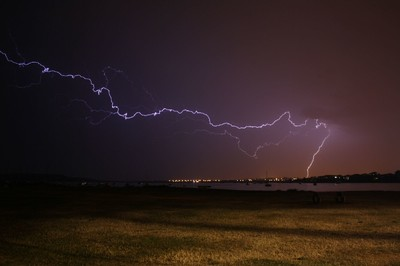 Lightning over Christchurch quay 2