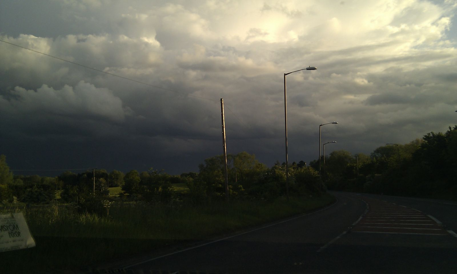 View towards thunderstorms in South Essex  - 1