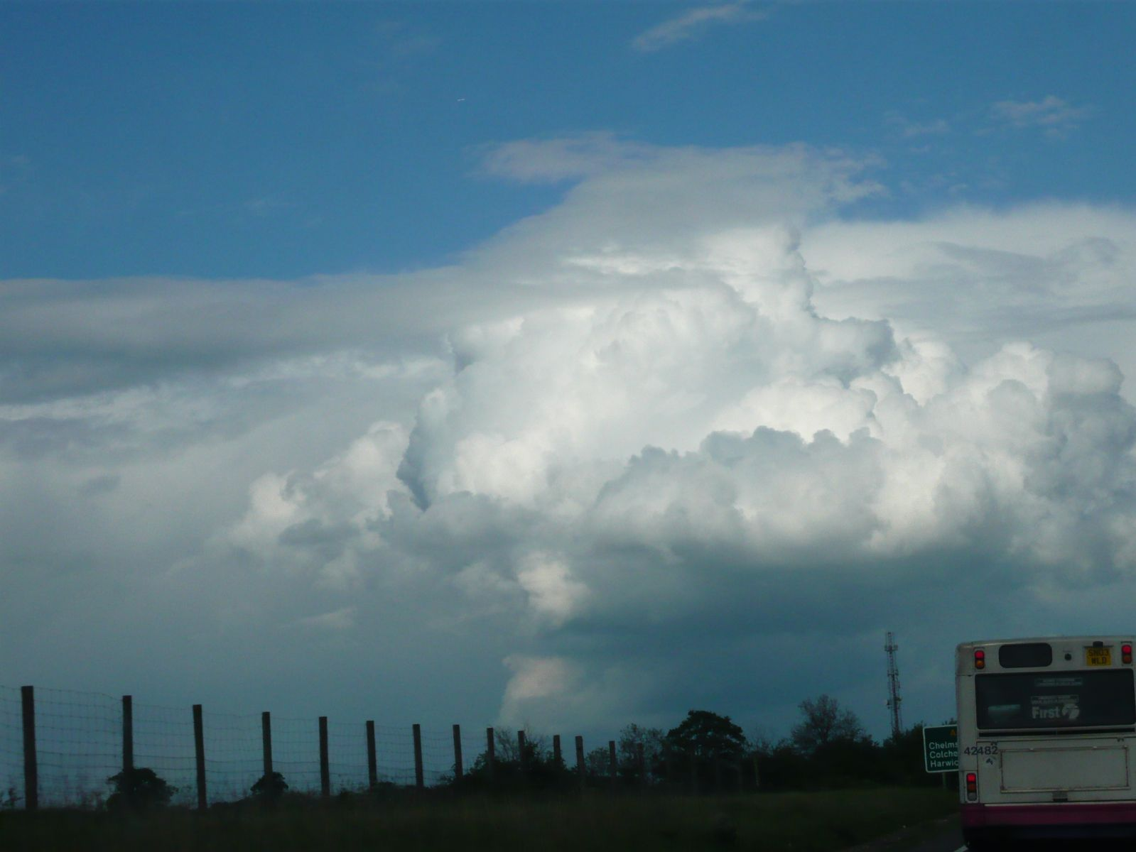 Rapid afternoon convection on the 13th