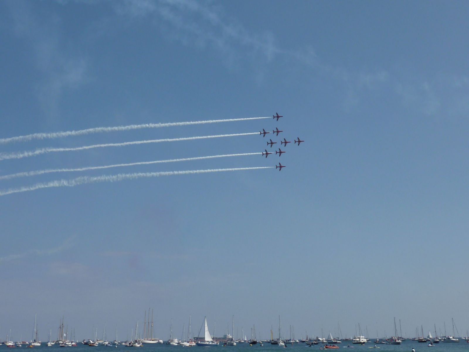 Falmouth Red Arrows Display