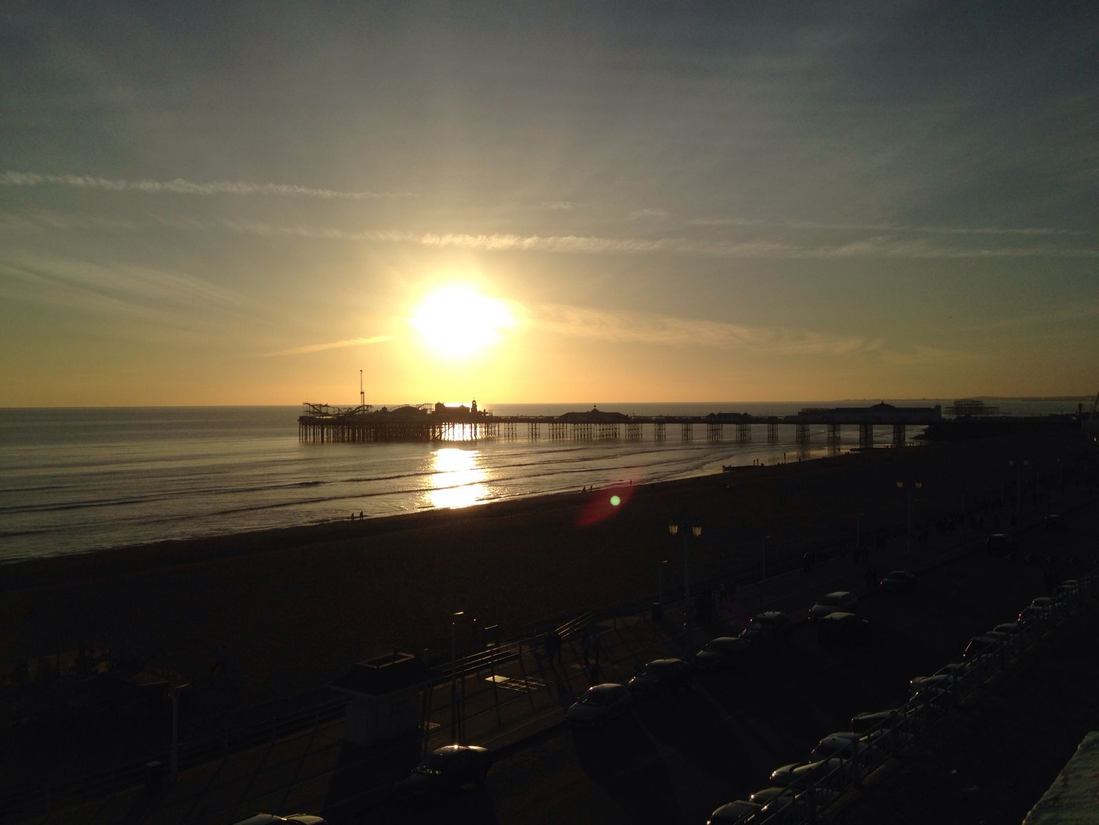 Sunset over Brighton