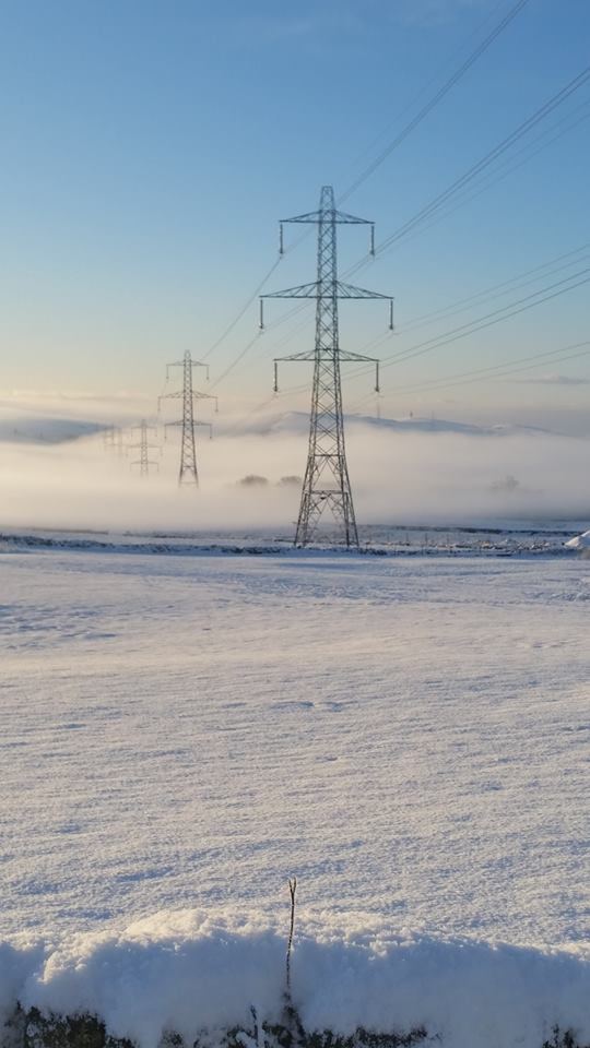 Pylons towards Glossop & The Snake Pass