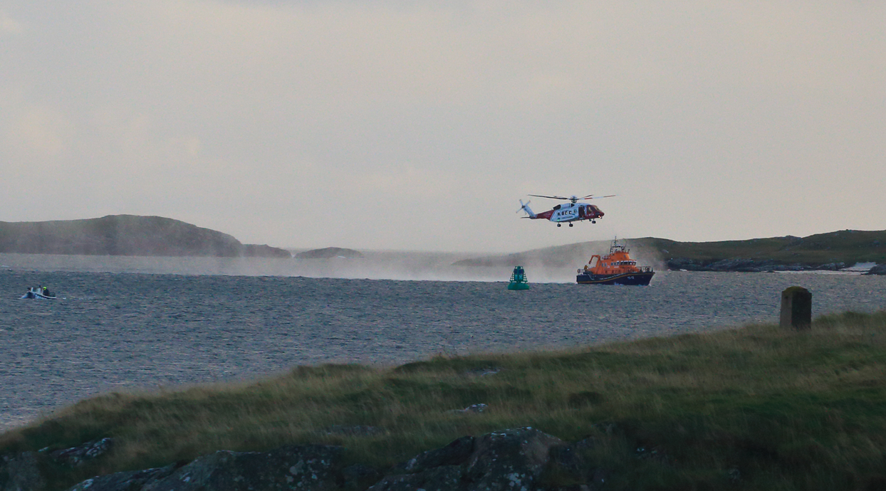 Coastguard and Lifeboat in Castlebay