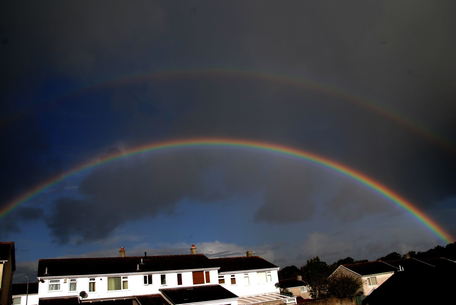 Double rainbow this morning - just