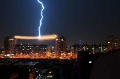 Lightning in Russia