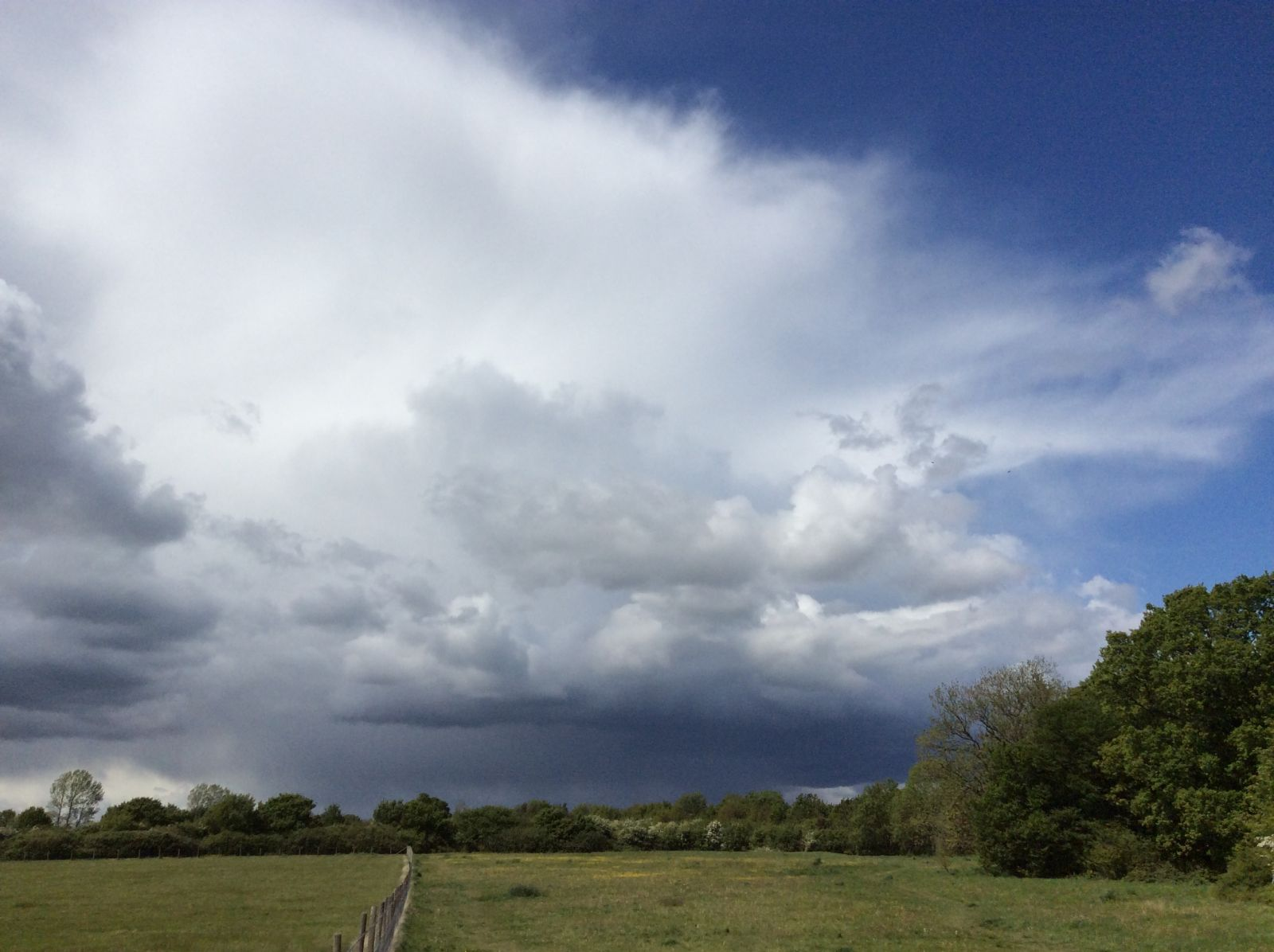 small storm cell over in south east England