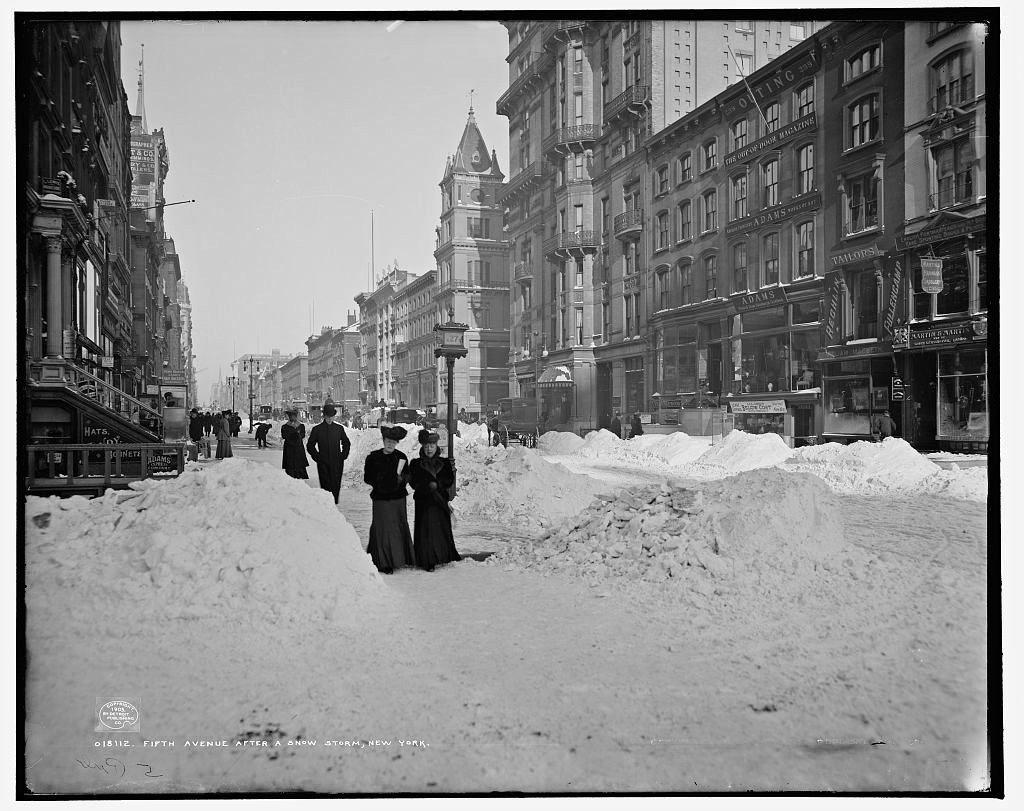 Fifth Avenue after a snow storm, New York 1905