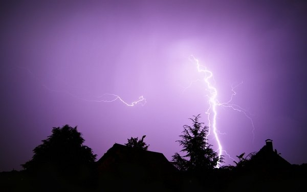 The colours of lightning