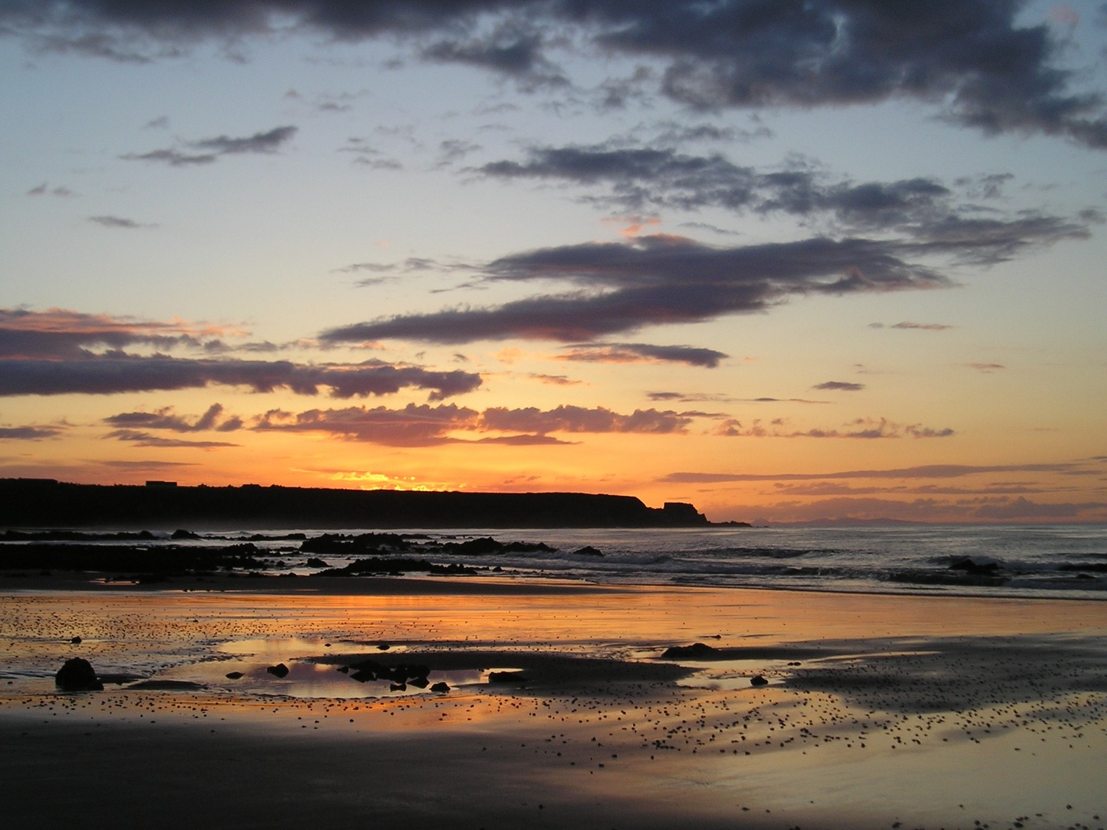 Sunset at Cullen on the Moray Firth coast