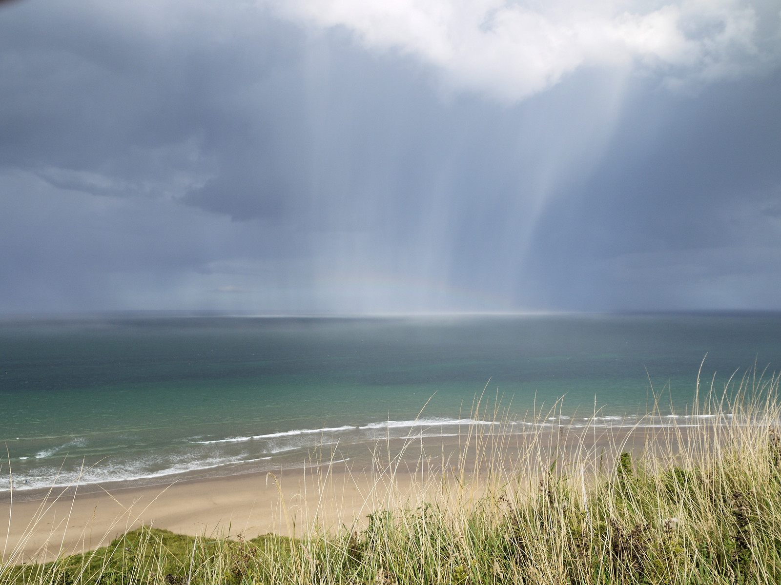 Cloudburst over the sea