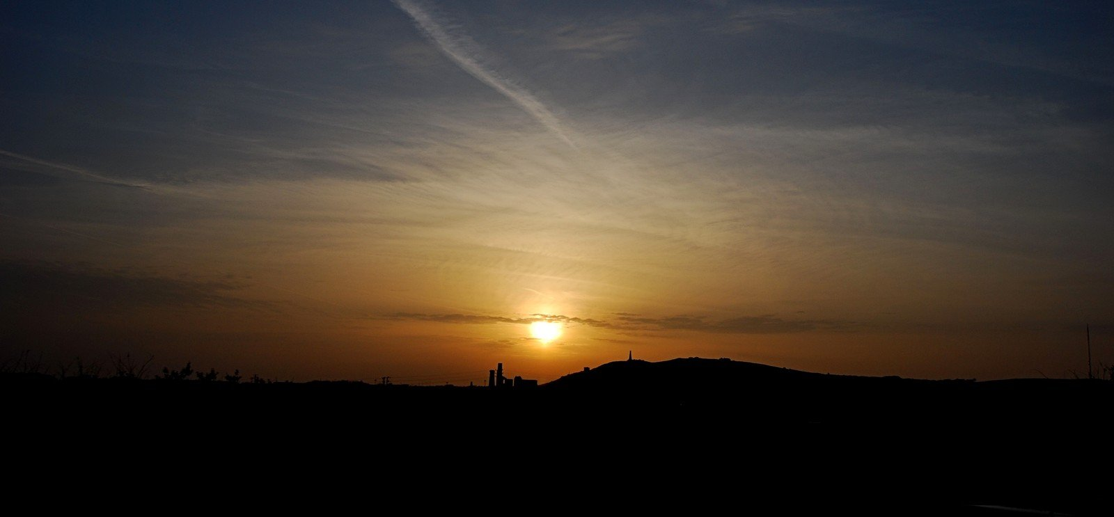 Sunrise over Carn Brea, Camborne