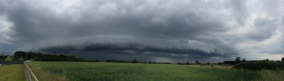 Shelf cloud panorama