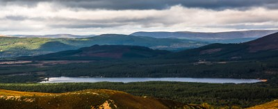 Glimpse of Loch Morlich from above